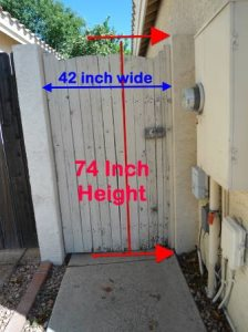 Install New Side Yard Door Cover Photo