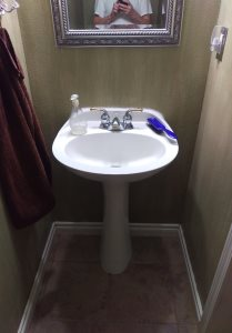 Replace Existing Sink With Cabinet Style Sink Cover Photo