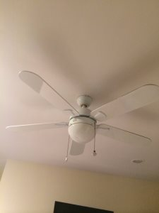 Replacing Celling Fan Cover Photo