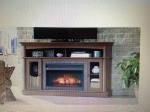 NEED ELECTRIC FIREPLACE MEDIA CENTER ASSEMBLED Cover Photo