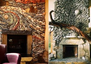 Artistic Stonework Fireplace Cover Photo