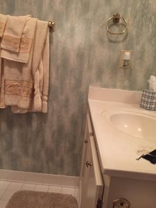 Bathroom Remodel - Floor Cover Photo