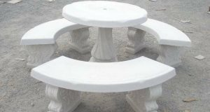 Moving Concrete Patio  Table And Benches Cover Photo