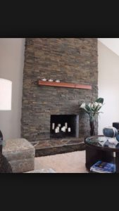Fireplace Stacked Stone Cover Photo