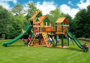 Wooden Swing Set Cover Photo