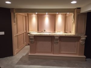 Wood finishing- basement bar Cover Photo