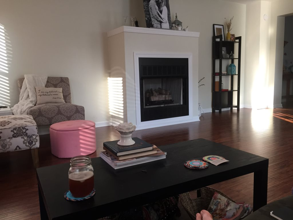 Awkward Fireplace In Living Room. Cover Photo