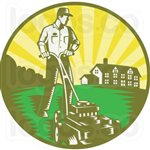Simple Landscaping Ideas on a Budget Contractors Logo