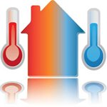 Hlucky Heating and Cooling LLc Logo