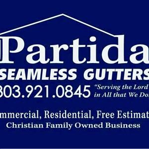 Partida Seamless Gutters LLC Logo