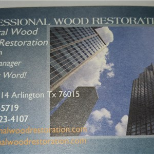 Professional Wood Restoration Logo