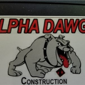Alpha Dawgs Construction Logo