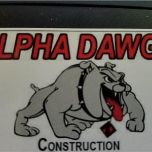 Alpha Dawgs Construction Logo