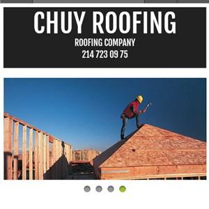 Chuy Roofing yo quiero que me ablen por telefonoy me espliquen Logo