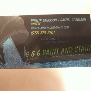 G & G Paint and Stain Logo