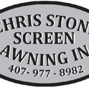 Chris Stone Screen AND Awning INC Logo