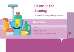Let Me Do the Cleaning Logo