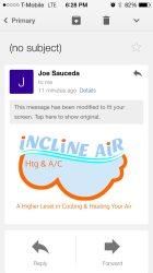 Incline Air Heating & A/C Logo