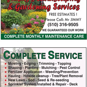 Jimmys Gardener and Landscaping Service Logo