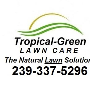 Tropical Green Lawn Care Logo