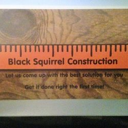 Blacksquirrel Construction Logo