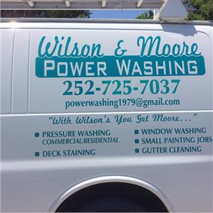 Wilson & Moore Pressure washing & window cleaning Logo