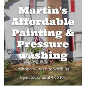 Martins Affordable Painting & Pressure Washing Logo