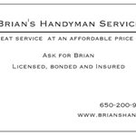 Brians Handyman Service Cover Photo