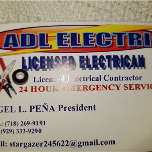 A.D.L. Electric- Licensed Electrical Contractor Logo
