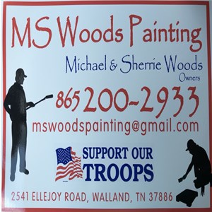 M Woods Painting Logo