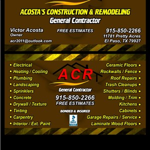 Acr Acostas Construction and Remodeling Logo