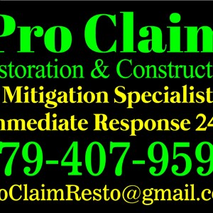 ProClaim Roofing , Restoration & Construction Logo