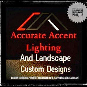 Accurate Accent Lighting And Landscape Logo