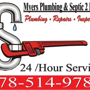 Myers Plumbing and Septic 2 Logo