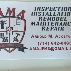 A M A Construction Logo