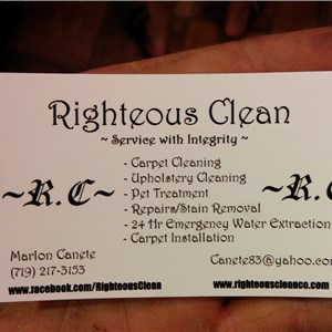 Righteous Clean Service with Integrity Logo