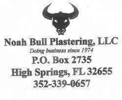 Noah Bull Plastering, LLC Logo
