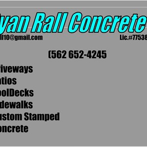 Ryan Rall Concrete Cover Photo