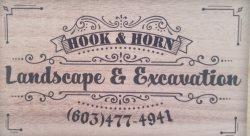 Hook & Horn Landscape & Excavation Logo