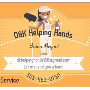 Contact D&k Helping Hands Logo