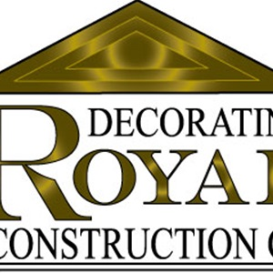 ROYAL DECORATING@CONSTRUCTION CO. Logo