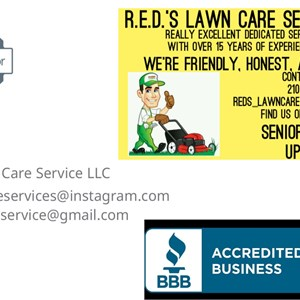 Reds Lawn Care Service Logo