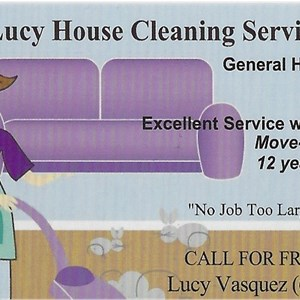 Lucy House Cleaning Logo