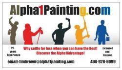Alpha1painting.com Logo