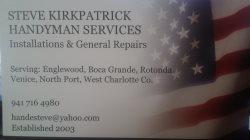 Steve Kirkpatrick Handyman Service Logo