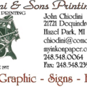 Chiodini and Sons Printing Inc Logo