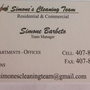 Simones Cleaning Team Logo
