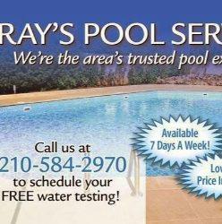 Rays Pool Service Logo