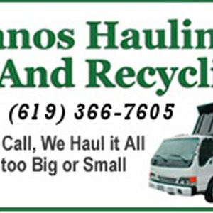 Manos Hauling And Recycling Logo
