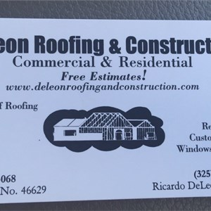Deleon Roofing & Construction Cover Photo